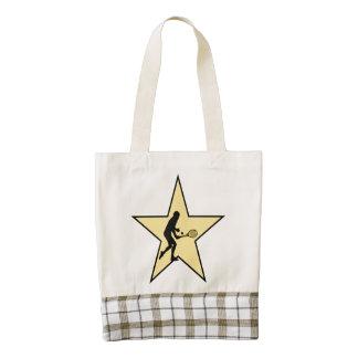 Tennis Star Zazzle HEART Tote Bag