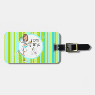 Tennis starts with Love bag tag