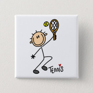 Tennis Stick Figure Button