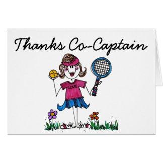 Tennis Stick Girl Greeting Card with envelope