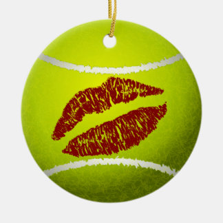 tennis sweetheart multiple messages ornament
