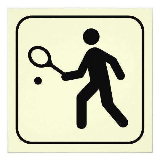 Tennis Symbol Invitation