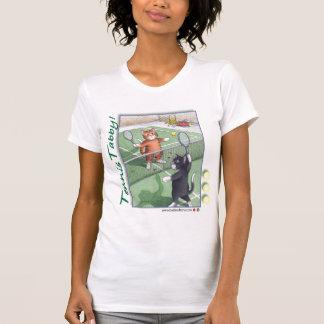 Tennis Tabby Cats T-Shirt Bud & Tony