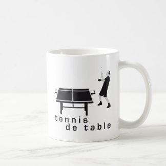 tennis table taza de café
