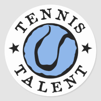 Tennis Talent Blues Classic Round Sticker