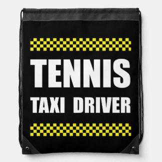Tennis Taxi Driver Drawstring Backpack