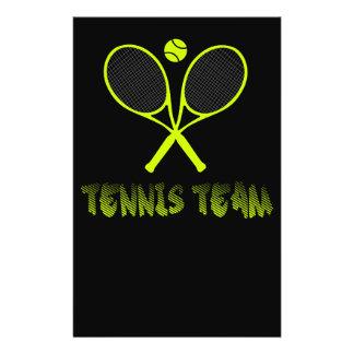 Tennis team flyer