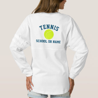 Tennis Team School Player's Name Custom Spirit Jersey