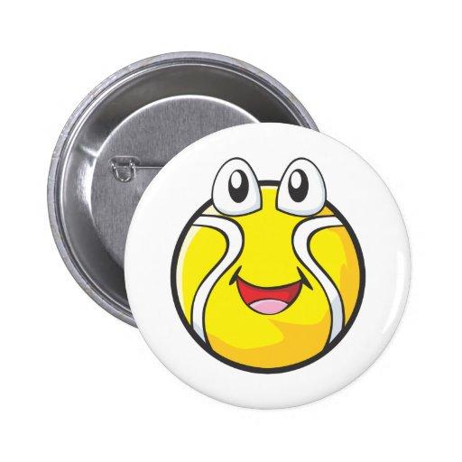 Tennis Tee Shirts - Happy Smiling Tennis Ball Pin