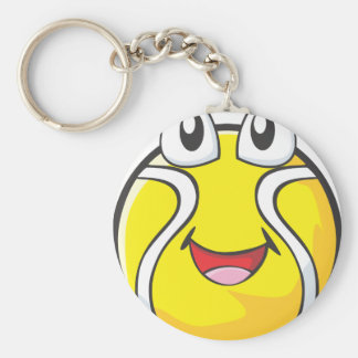 Tennis Tee Shirts - Happy Smiling Tennis Ball Keychain