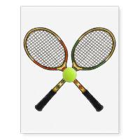 Tennis Temporary Tattoos