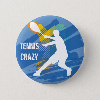 Tennis Tennis Tennis Tennis Tennis Pinback Button