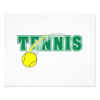 tennis text graphic flyer