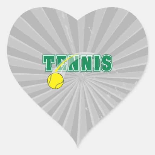 tennis text graphic heart sticker
