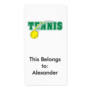 tennis text graphic label