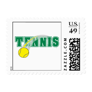 tennis text graphic postage