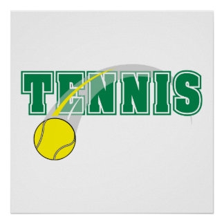 tennis text graphic poster