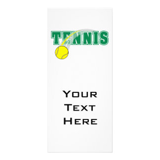 tennis text graphic rack card