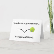 Tennis Thank You Card