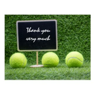 Tennis Thank you card with tennis balls