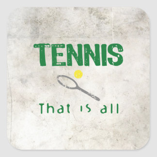 Tennis That Is All Square Sticker