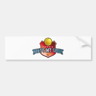 tennis - that's my sport bumper sticker