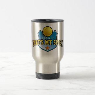 tennis - that's my sport 15 oz stainless steel travel mug