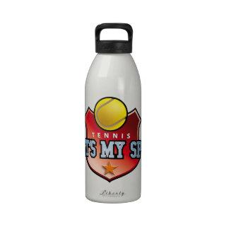 tennis - that's my sport reusable water bottle