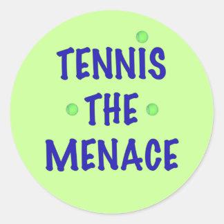 Tennis the Menace Classic Round Sticker