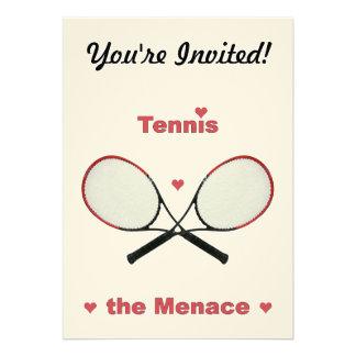 Tennis the Menace Hearts Personalized Invites
