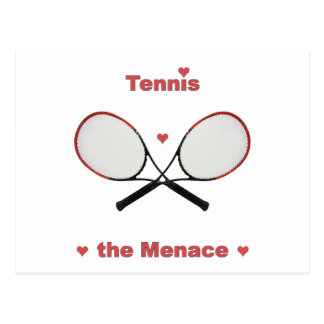 Tennis the Menace Hearts Postcard