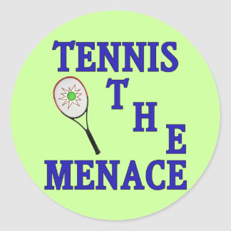 Tennis the Menace Racket Classic Round Sticker