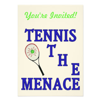 Tennis the Menace Racket Personalized Announcement