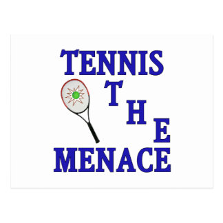 Tennis the Menace Racket Postcard