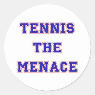 Tennis the Menace Team Classic Round Sticker