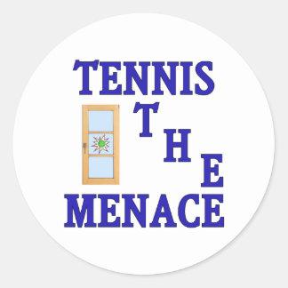Tennis the Menace Window Classic Round Sticker
