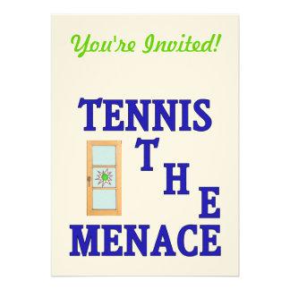 Tennis the Menace Window Custom Invites