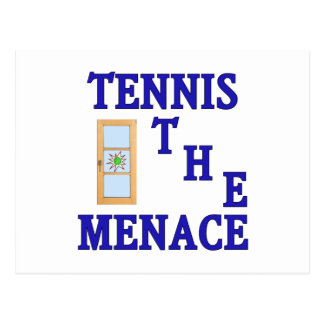 Tennis the Menace Window Postcard