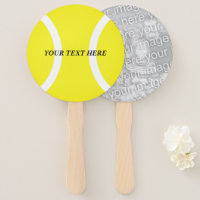 Tennis theme Birthday or wedding party photo Hand Fan