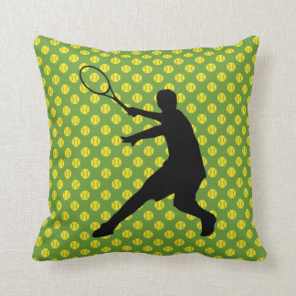 Tennis theme decoration throw pillow cushion print
