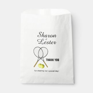 Tennis Theme Favor Bag