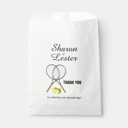 Tennis Theme Favor Bag