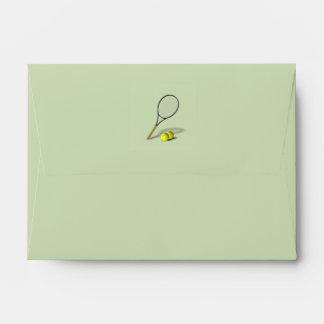 Tennis Theme Wedding Envelope