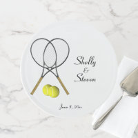 Tennis Theme Wedding Personalized Cake Stand