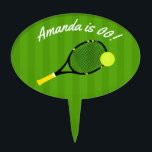 """Tennis themed Birthday Party personalized Cake Topper<br><div class=""""desc"""">Customizable to your event specifics.</div>"""