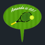 "Tennis themed Birthday Party personalized Cake Topper<br><div class=""desc"">Customizable to your event specifics.</div>"