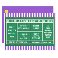 tennis-themed party invitations