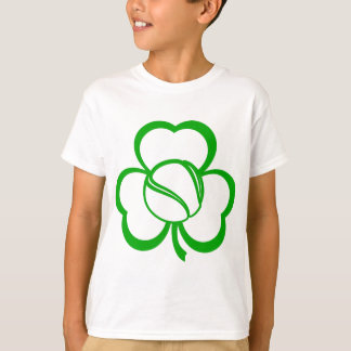 Tennis Three Leaf Clover for St. Patrick's Day T-Shirt
