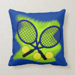 "Tennis Throw Pillow<br><div class=""desc""></div>"