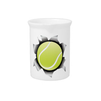 tennis thru metal sheet beverage pitcher